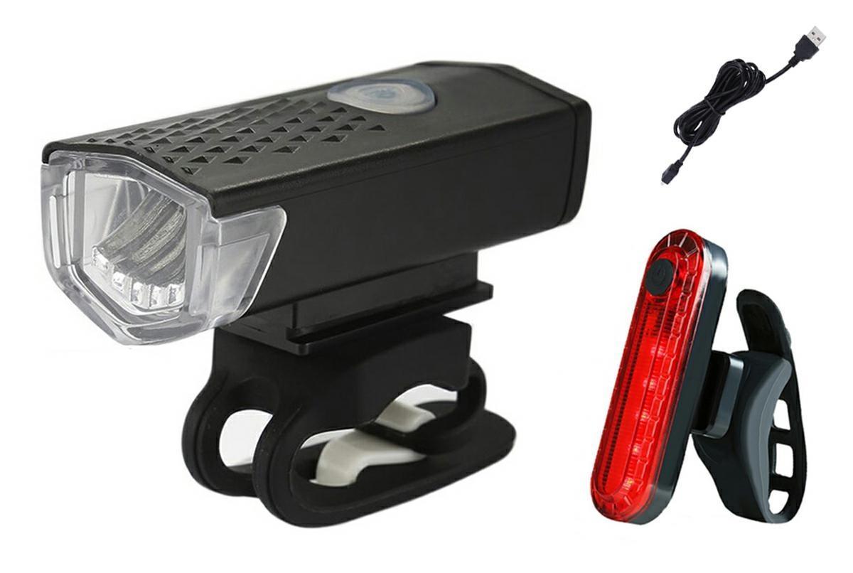 LED21 ZD41B Svítilna na kolo SET 5+5LED, nabíjecí, přední+zadní